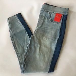 Spanx Skinny Jean Distressed Stripe SOLD OUT Large